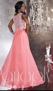 Panoply pink prom pageant dress gown bling 12